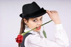 Retrato de uma mulher nova 'sexy' imagens de stock