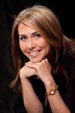 Retrato de uma mulher nova 'sexy' bonita imagens de stock royalty free