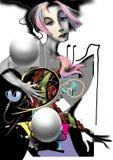 Retrato de uma mulher pálida com flores Imagem de Stock Royalty Free