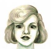 Retrato de uma mulher que olha como Marilyn Monroe Imagens de Stock