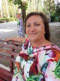 Retrato de uma mulher suntanned Fotografia de Stock
