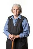 Retrato de uma mulher superior calma Foto de Stock