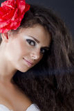 Retrato de uma mulher triguenha bonita Foto de Stock Royalty Free