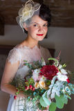Retrato de uma noiva fotos de stock