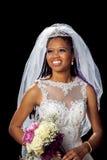 Retrato de uma noiva afro-americano bonita imagens de stock royalty free