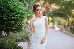 Retrato de uma noiva bonita fotos de stock royalty free