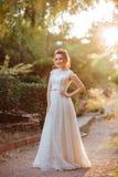 Retrato de uma noiva bonita fotografia de stock