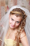 Retrato de uma noiva bonita Imagens de Stock