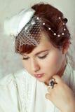 Retrato de uma noiva da beleza Fotografia de Stock