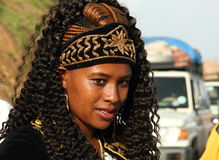 Retrato de uma noiva etíope em seu dia do casamento Imagens de Stock Royalty Free