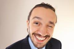 Retrato de uma pessoa bem sucedida nova do negócio dentro fotos de stock