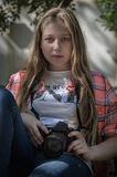 Retrato de uma rapariga Foto de Stock