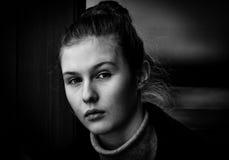 Retrato de uma rapariga Fotos de Stock