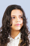 Retrato de uma rapariga bonita Imagens de Stock Royalty Free