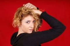Retrato de uma rapariga bonita fotografia de stock royalty free