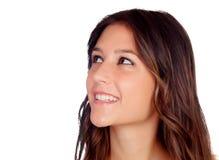Retrato de uma rapariga bonita Imagem de Stock Royalty Free
