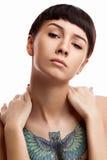 Retrato de uma rapariga bonita Foto de Stock Royalty Free
