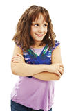Retrato de uma rapariga bonito, olhando acima fotos de stock royalty free