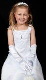 Retrato de uma rapariga em um vestido fotos de stock