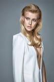 Retrato de uma senhora à moda séria Fotos de Stock Royalty Free