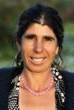 Retrato de uma senhora aciganada feliz Fotos de Stock Royalty Free