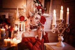 Retrato de uma senhora bonita Foto de Stock