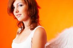 Retrato de un ángel fotos de archivo