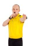 Retrato de un árbitro. Foto de archivo libre de regalías