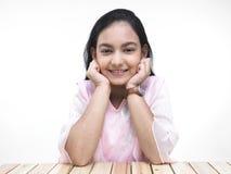 Retrato de un adolescente asiático Fotografía de archivo