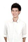 Retrato de un adolescente asiático feliz Fotos de archivo libres de regalías