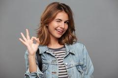 Retrato de un adolescente bonito sonriente Fotografía de archivo libre de regalías