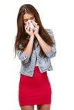 Retrato de un adolescente con alergias Imagen de archivo libre de regalías