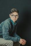 Retrato de un adolescente con estilo Imágenes de archivo libres de regalías