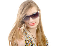 Retrato de un adolescente con los vidrios Fotografía de archivo
