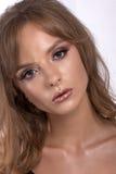 Retrato de un adolescente con maquillaje creativo Imagen de archivo libre de regalías