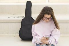 Retrato de un adolescente de 15 años joven Fotos de archivo libres de regalías