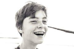 Retrato de un adolescente de risa Imágenes de archivo libres de regalías