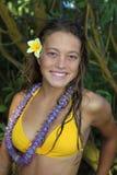 Retrato de un adolescente en Hawaii Fotos de archivo libres de regalías