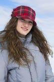 Retrato de un adolescente en invierno Fotografía de archivo