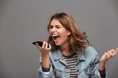 Retrato de un adolescente enojado furioso Imágenes de archivo libres de regalías