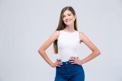 Retrato de un adolescente femenino feliz Fotos de archivo libres de regalías