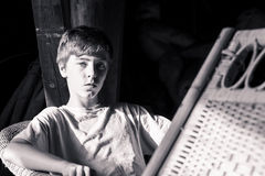 Retrato de un adolescente hermoso Fotos de archivo libres de regalías