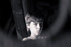 Retrato de un adolescente hermoso Foto de archivo libre de regalías