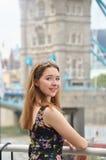 Retrato de un adolescente hermoso en Londres Fotos de archivo