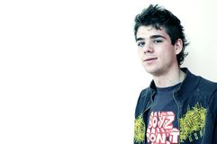 Retrato de un adolescente joven Imágenes de archivo libres de regalías