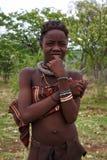 Retrato de un adolescente joven de la tribu de Himba, Namibia Imagen de archivo