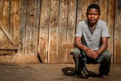 Retrato de un adolescente malgache Imagenes de archivo