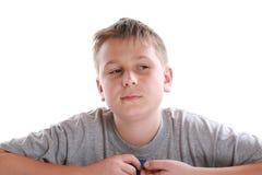 Retrato de un adolescente pensativo Fotos de archivo