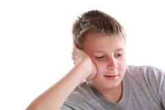 Retrato de un adolescente pensativo Imágenes de archivo libres de regalías