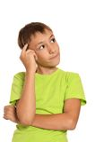 Retrato de un adolescente pensativo Foto de archivo